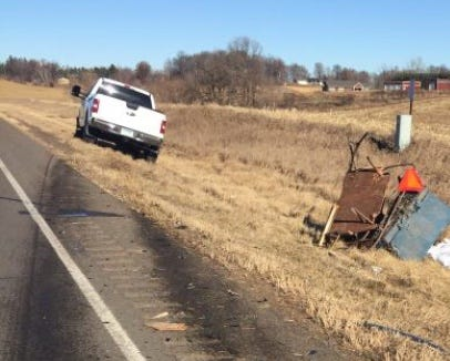 A horse-drawn buggy was hit from behind by a pickup truck Sunday afternoon near Avon, killing two people and the horse.