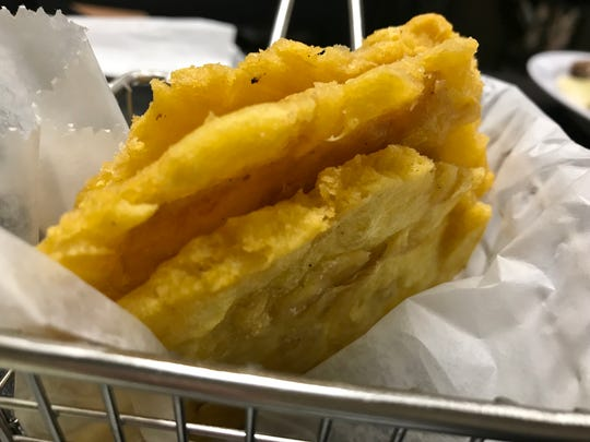 Babalu's Cuban Café's tostones  (twice fried plantains).