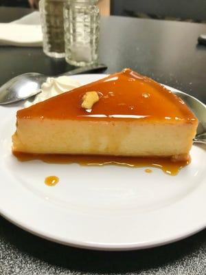 Babalu's Cuban Café's flan was  creamy custard topped with sweet caramel sauce.