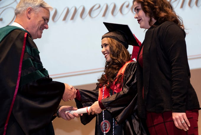 The Texas Tech University Health Sciences Center El Paso Gayle Greve Hunt School of Nursing December 2018 Commencement and Pinning Ceremony was held Saturday at the Plaza Theatre.