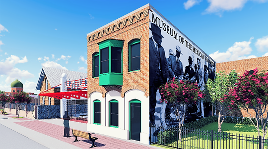 """A rendering of what a Mexican Revolution museum could look like in the historic Duranguito neighborhood in Downtown El Paso under a group's """"Rebirth of Duranguito"""" proposal."""
