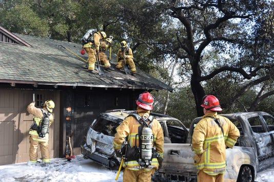 Car Fire ojai