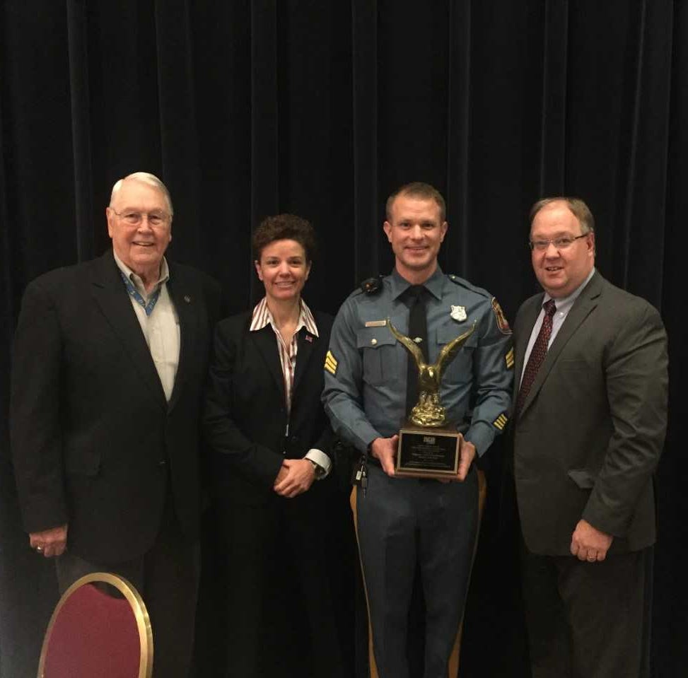 Sgt. J. Paul Doherty was recognized this week for...