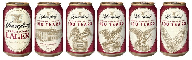 D.G. Yuengling & Son, Inc. is releasing a limited edition Bourbon Barrel Reserve beer being released to celebrate the Pottsville, Pennsylvania brewery's 190th anniversary.