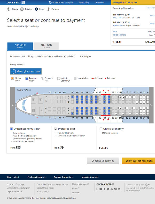 seat selection fees united joins delta and american with new charges