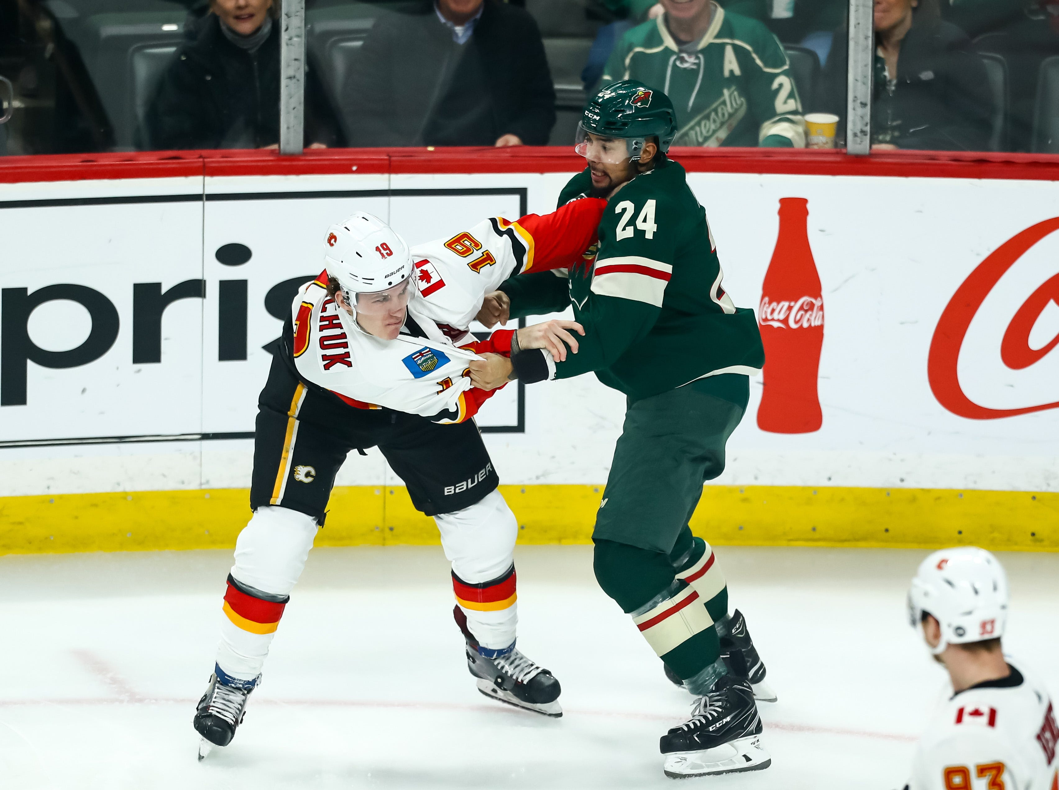 Dec. 15: Calgary Flames' Matthew Tkachuk vs. Minnesota Wild's Matt Dumba.