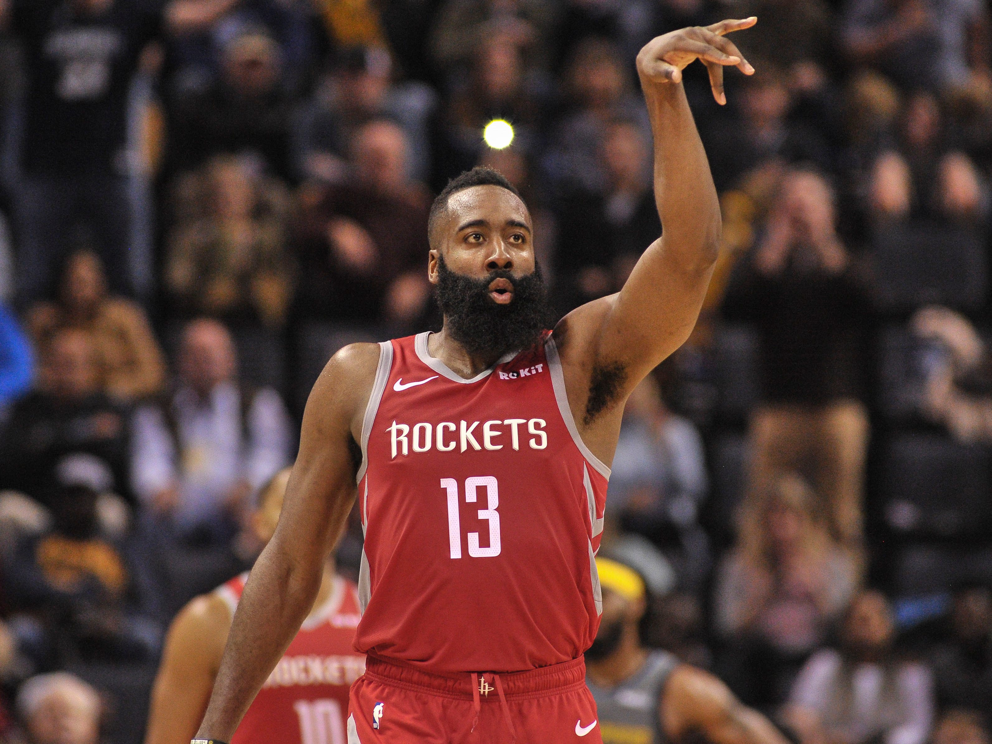 26. James Harden, Rockets (Dec. 15): 32 points, 12 rebounds, 10 assist in 105-97 win over Grizzlies (third of season).