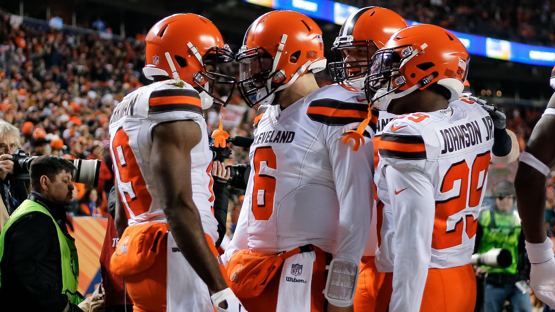 Browns Broncos' Put Hopes Playoff Life Denver On Support Cleveland
