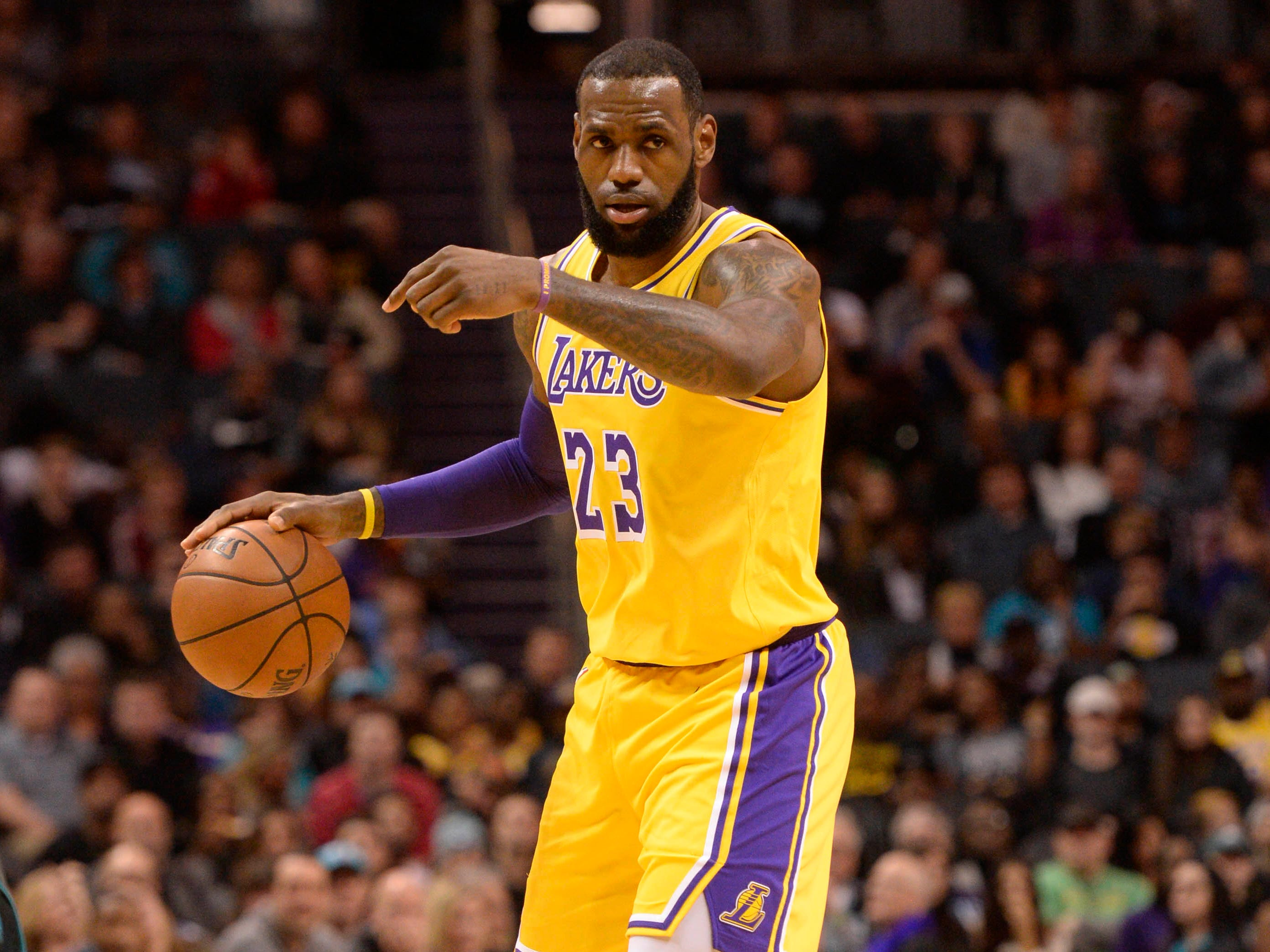 24. LeBron James, Lakers (Dec. 15): 24 points, 12 rebounds, 11 assists in 128-100 win over Hornets (second of season).