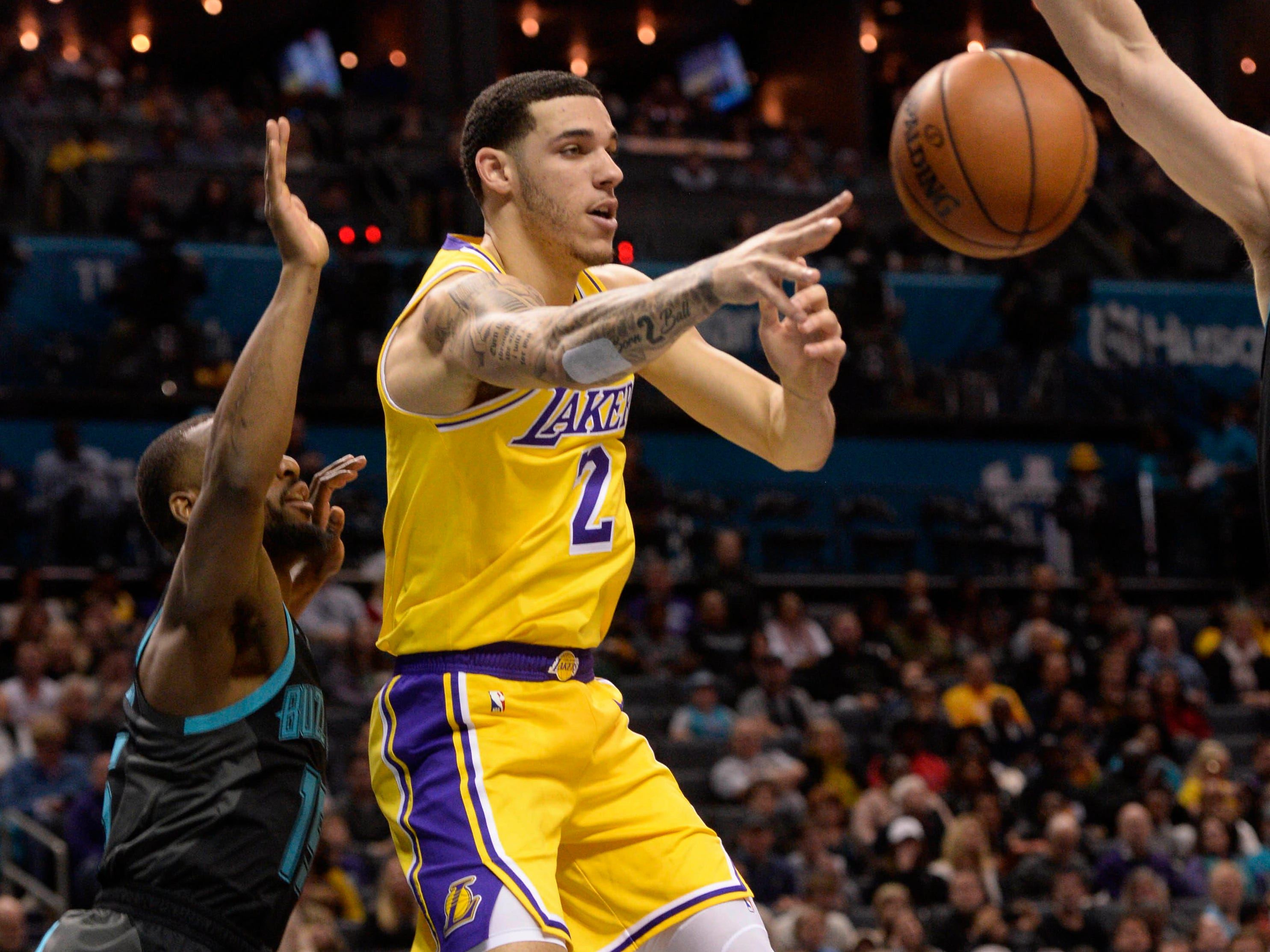 25. Lonzo Ball, Lakers (Dec. 15): 16 points, 10 rebounds, 10 assists in 128-100 win over Hornets.