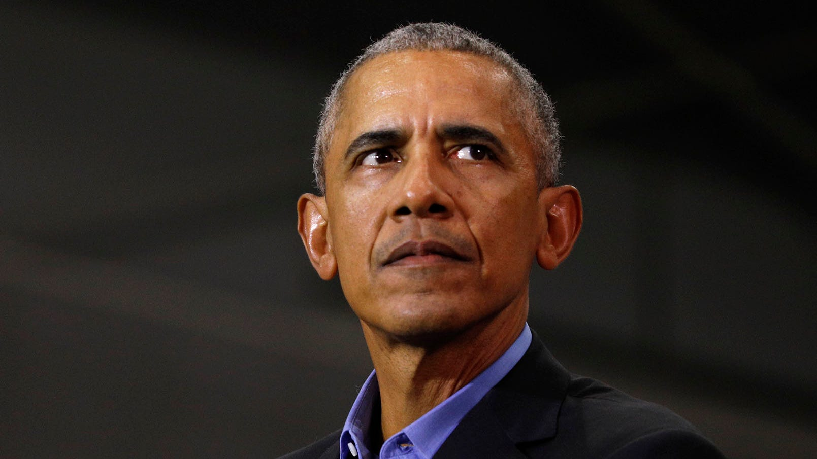 Former President Barack Obama speaks at a rally to support Michigan democratic candidates at Detroit Cass Tech High School on Oct. 26, 2018, in Detroit.