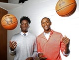 Ranney seniors Scottie Lewis and Bryan Antoine were honored as McDonald's All-Americans on Thursday before a Shore Conference Tournament round of 16 game