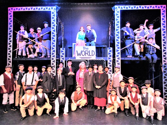 "The Endicott Performing Arts Center's recent youth production of ""Newsies""  featured two different casts."