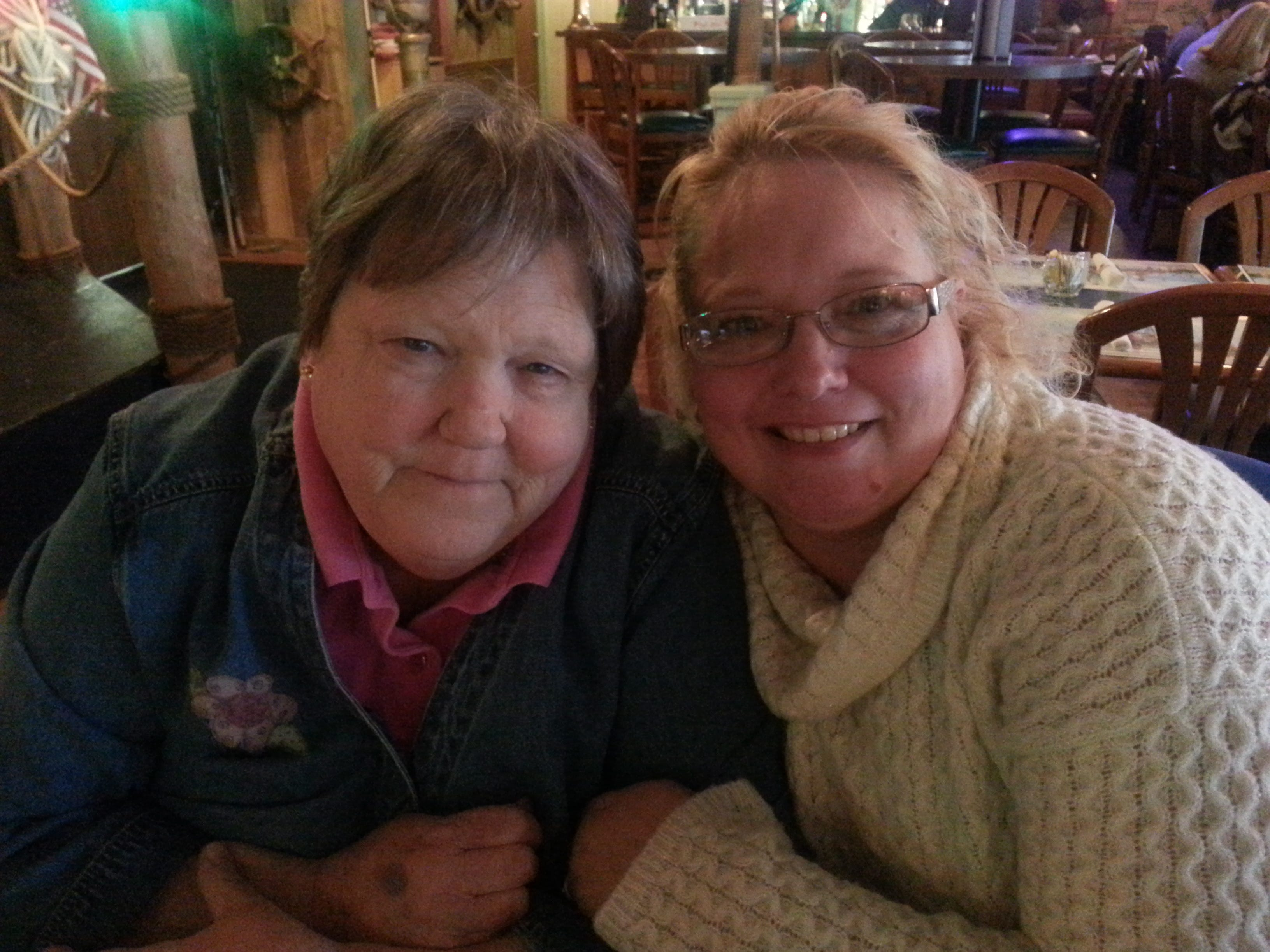 Stephanie Smith, left, with her daughter, Kimberly Chandler.