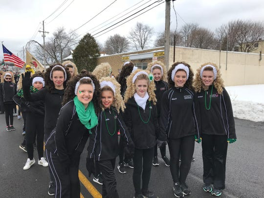Students from the Carle School of Irish Dance participate in the annual Parade Day festivities in Binghamton in honor of St. Patrick.