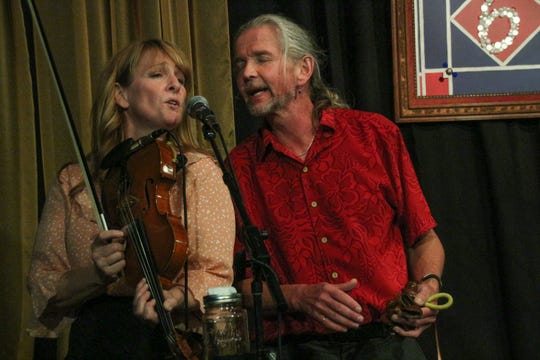 Sandra Swannell and Terry Young perform at 6 On The Square in Oxford in  June.