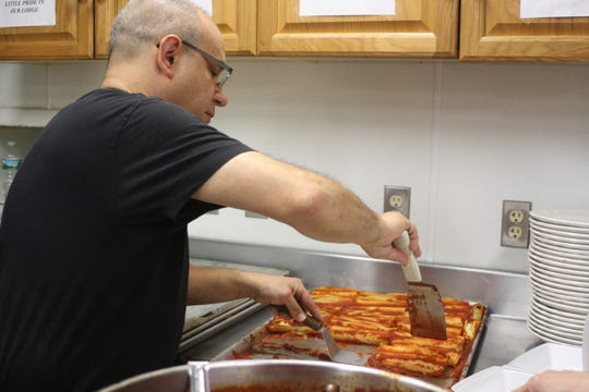 Steve Rogers was a guest chef at the Sons of Italy Friday lunch on Nov. 30.