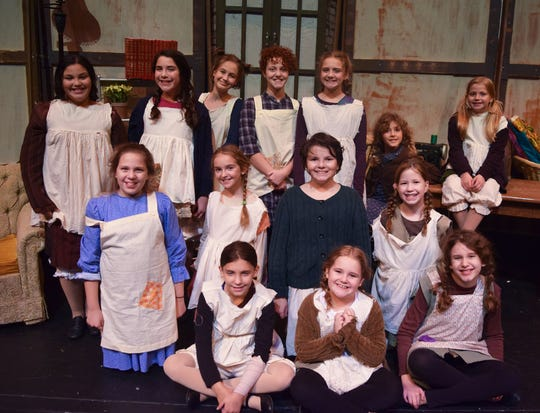 "The Endicott Performing Arts Center's recent production of ""Annie"" included many youth actors, including these girls from the Municipal Girls Orphanage."