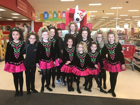 Dancers from the Carle School of Irish Dance perform around the region, with March especially busy because of St. Patrick's Day .
