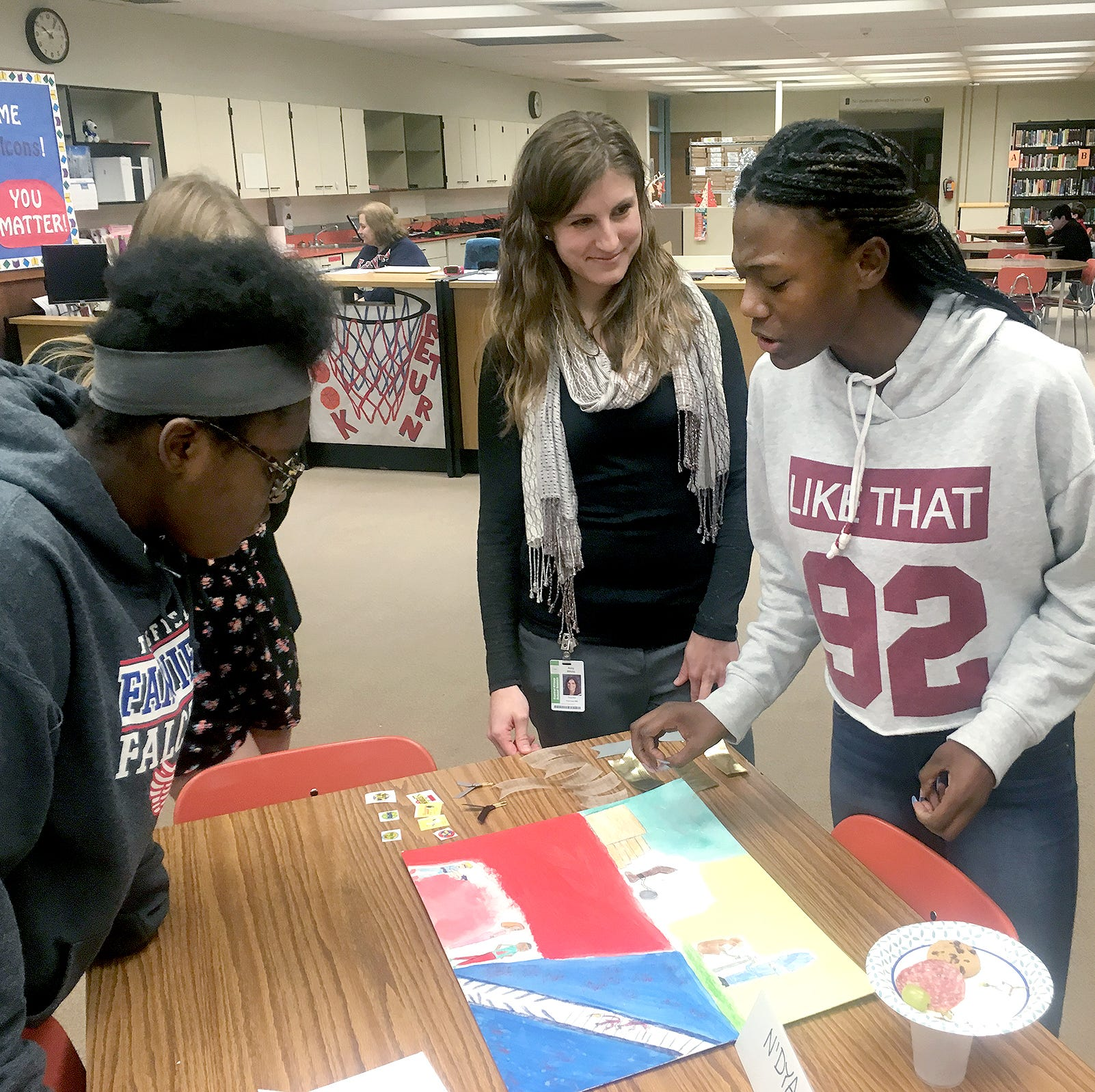 Students' artwork shows personal connections to racism