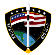 The mission patch for SpaceX's Falcon 9 launch with GPS III.