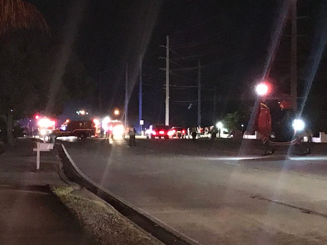 Scene of accident in Indian Harbour Beach on Sunday night