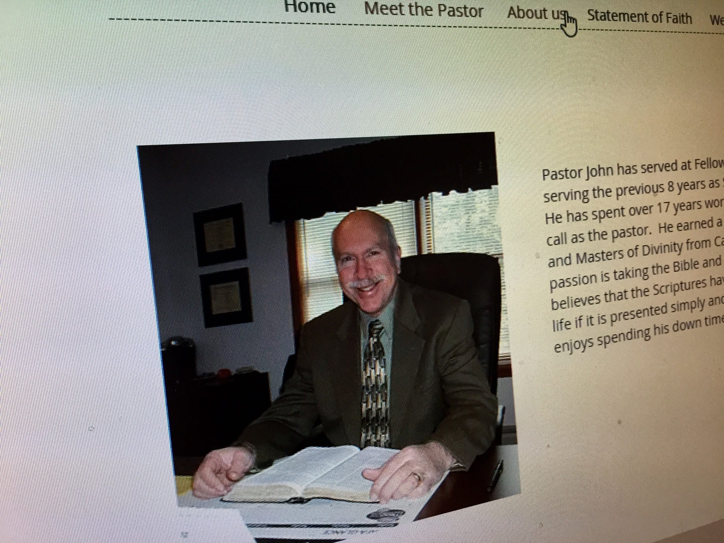 John Longaker, the pastor of Fellowship Bible Church, is pictured on the church website.