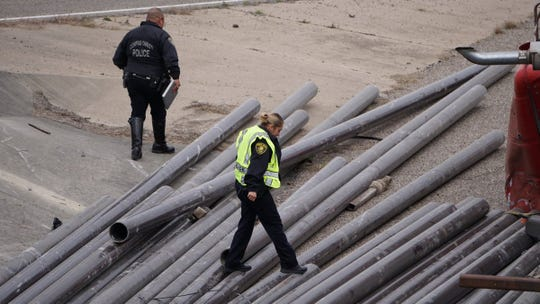 A flatbed truck overturned on the Interstate 37 on ramp to the Harbor Bridge, spilling the pipe it was carrying on the road.