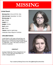 This flyer has been created to get the word out about Linda Roach, who hasn't been seen since Nov. 10.