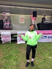 Preethy John raised money for breast cancer awareness.