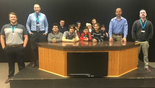 Front row, left to right: Dan Kavanagh, Dave Evans, Danny Castro, George Esposito, Samuel DeJesus, Sanya Bhatia,  Scott Strungis and Keith Shapiro (back row, left to right): DJ Berchoff, Peter Di Prospero, Henry Silva, Nina Pardo, Jake Agins and Abby Puszkin