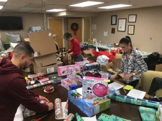 A fundraiser held in Carteret raised money for presents for those in need.