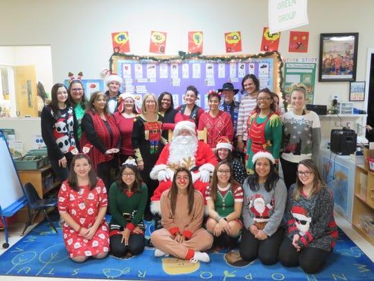 Kangaroo Kids Staff with Santa at Winter Wonderland