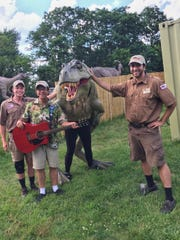 """""""Dinosaurs Dynamite,"""" new family musical presented by Field Station: Dinosaurs, an animatronic park in Leonia, will run Dec. 27 to 30 at Forum Theatre, Metuchen."""