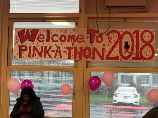 John's fundraising project culminated with an October Pink-A-Thon at the high school.