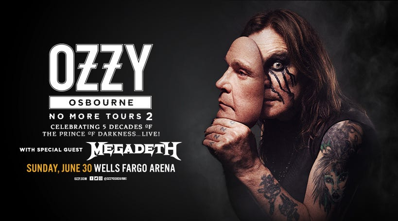Win two tickets to the Ozzy Osbourne concert