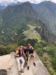 Carla Valpeoz, middle, of Detroit sent this image to her brother while traveling around Machu Piccu in the Peruvian Andes. She has been missing since Dec. 12, 2018.