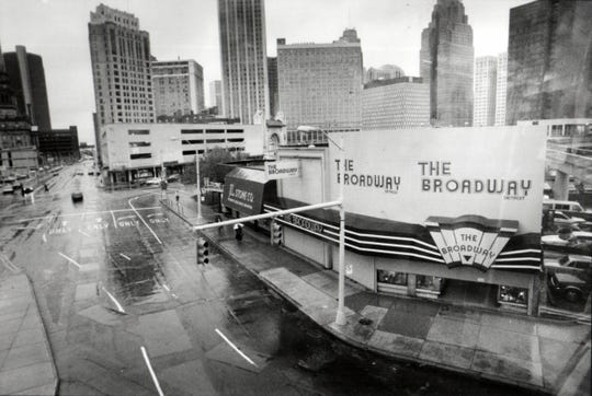 The Broadway clothing store on Broadway downtown, 1990.