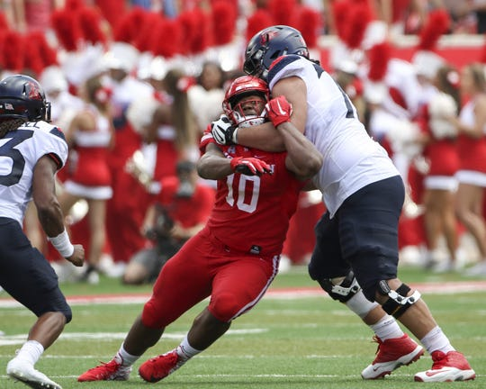 Houston defensive tackle Ed Oliver during a game with Arizona on Sept. 8, 2018 in Houston.