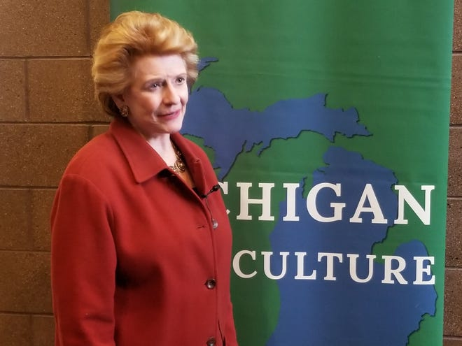 Sen. Debbie Stabenow on Monday spoke at Eastern Market about the benefits the 2018 Farm Bill would bring to Michigan farmers.
