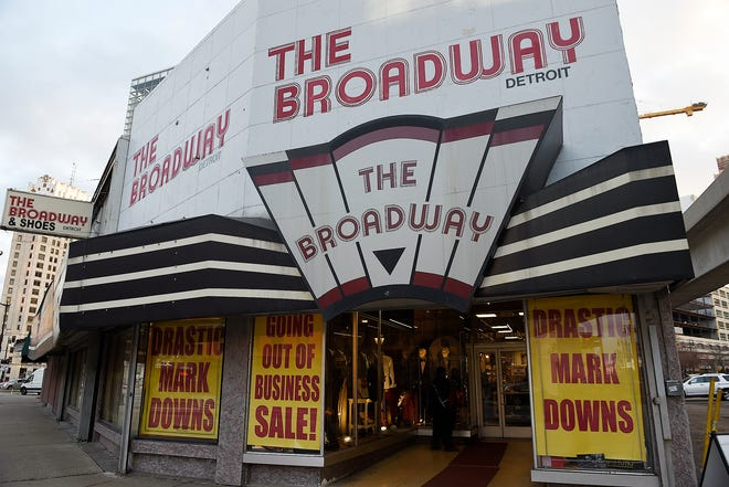 The Broadway clothing store in downtown Detroitis closing in 2019 after more than 40 years in business.