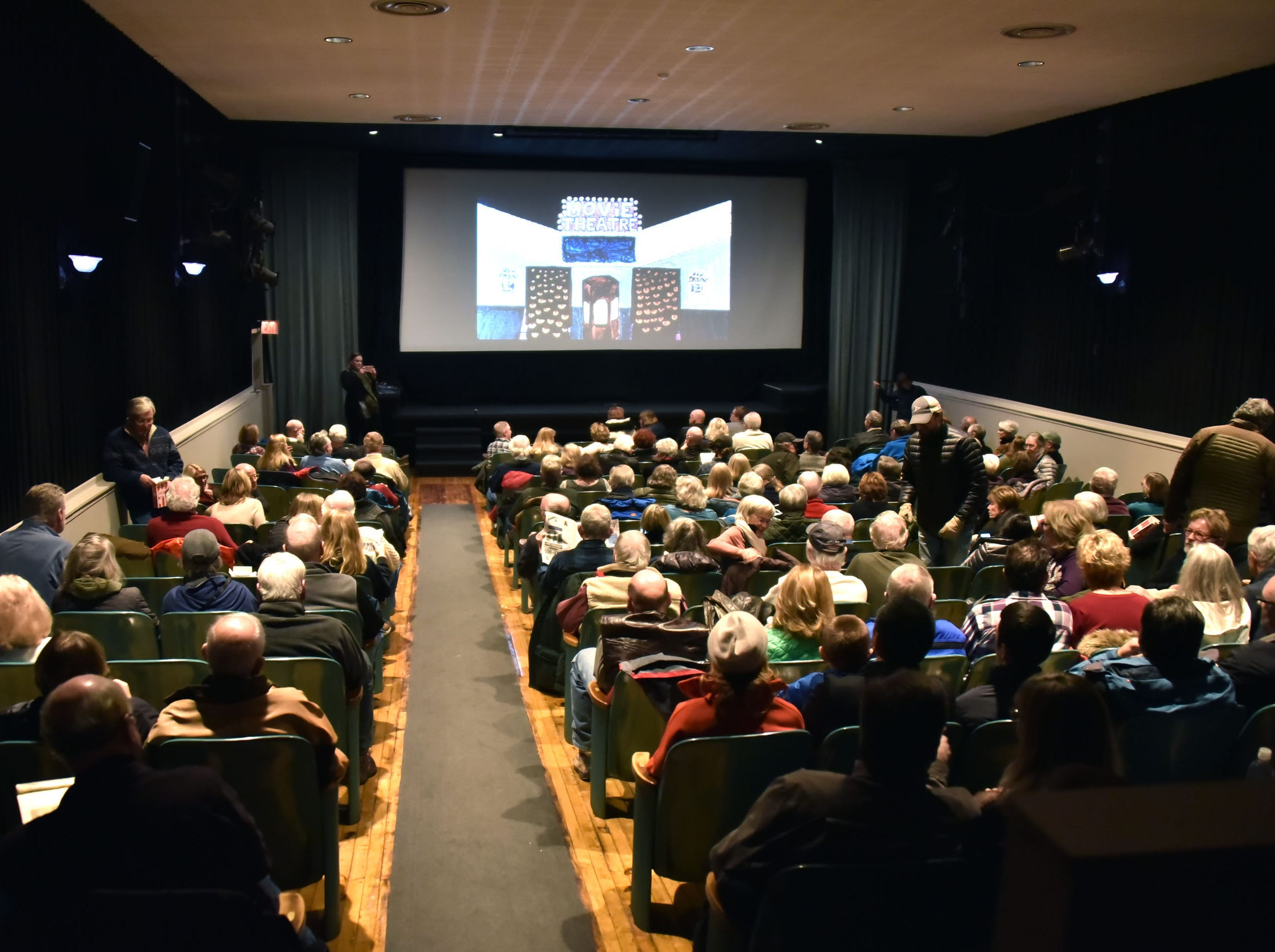 The 200-seat Bay theater in Suttons Bay held a community forum Tuesday, Dec. 11, 2018 in an attempt to find a new owner for the venue, the only movie house in Leelanau County.