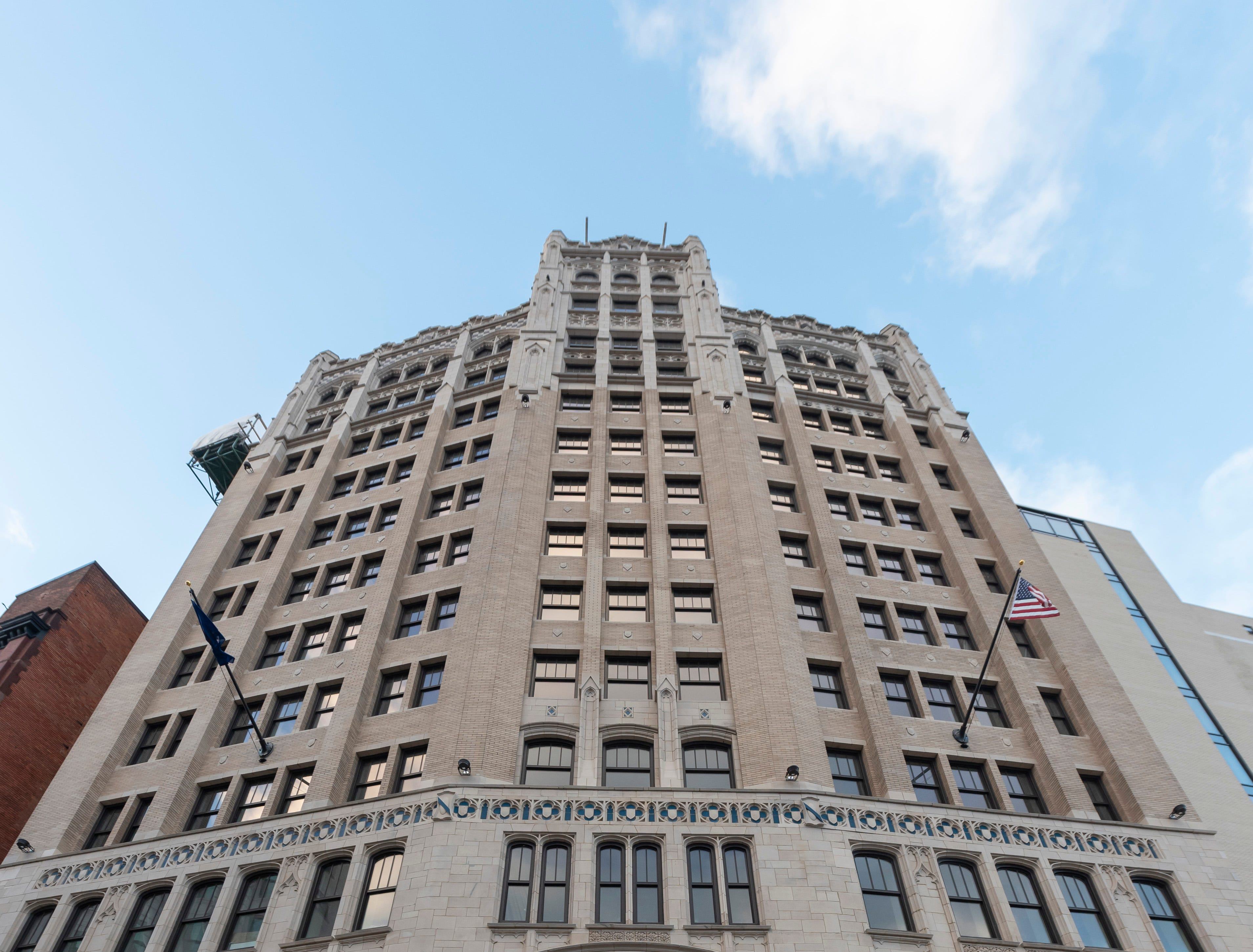 Originally opened in 1925,  the Metropolitan building at 33 John R had been vacant for almost 40 years.  Now it is reopening and will house the Element Detroit hotel.