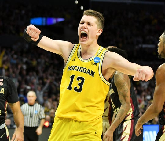 Michigan forward Moritz Wagner (13) helped lead the Wolverines to the national title game.