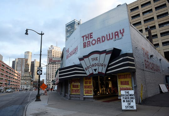 The  Broadway Detroit men's clothing store in downtown Detroit as seen on Monday, December,17, 2018 is going out of business.