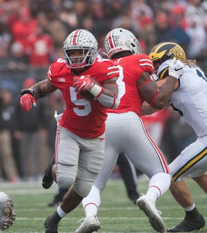 Ohio State running back Mike Weber