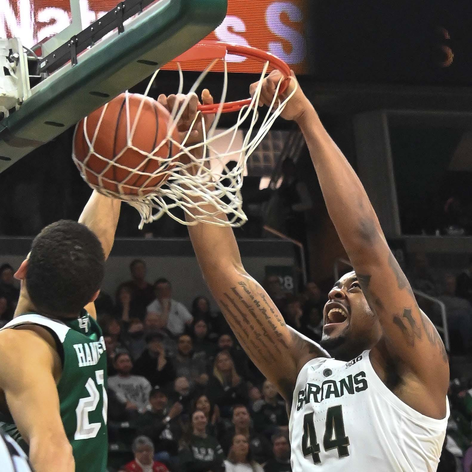 Michigan State crushes Green Bay, still seeks 'full game'