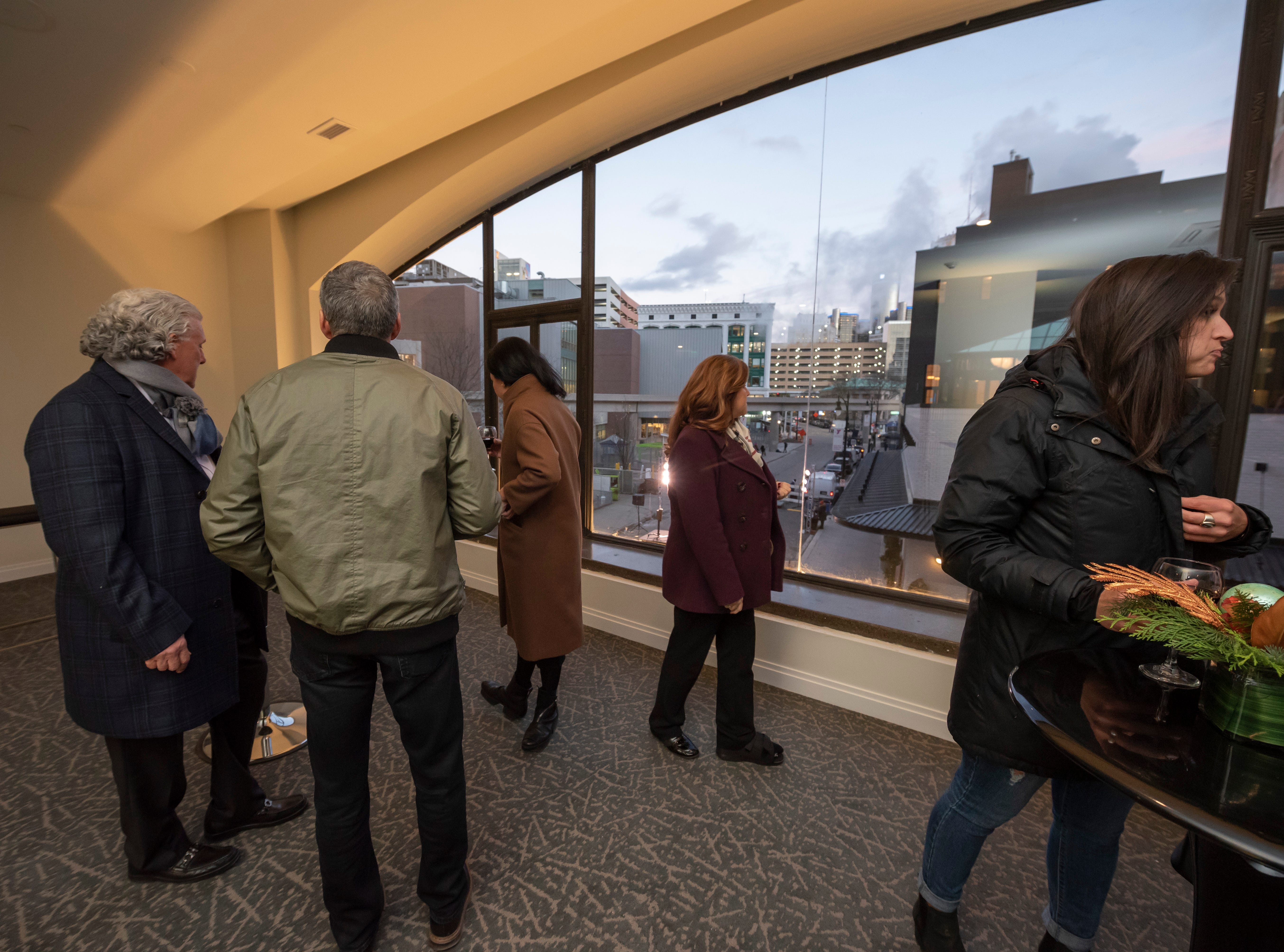 Guests get a view of the city from one of the renovated rooms inside the Metropolitan building.