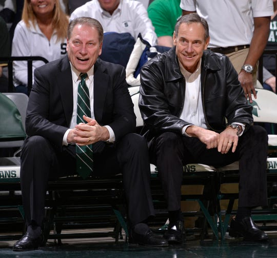 "Michigan State coaches Tom Izzo and Mark Dantonio defended their programs following an ESPN ""Outside the Lines"" report."