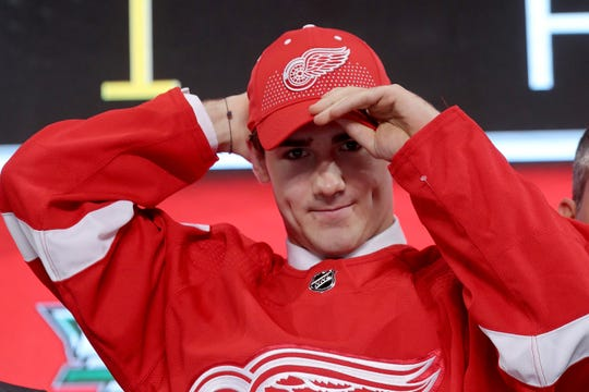 The Red Wings selected Filip Zadina with the sixth overall pick in the NHL draft.